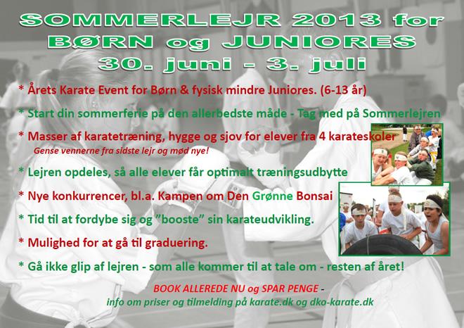 SOMMERLEJR 2013 for BØRN og JUNIORES 30. juni-3. juli (Denmark)