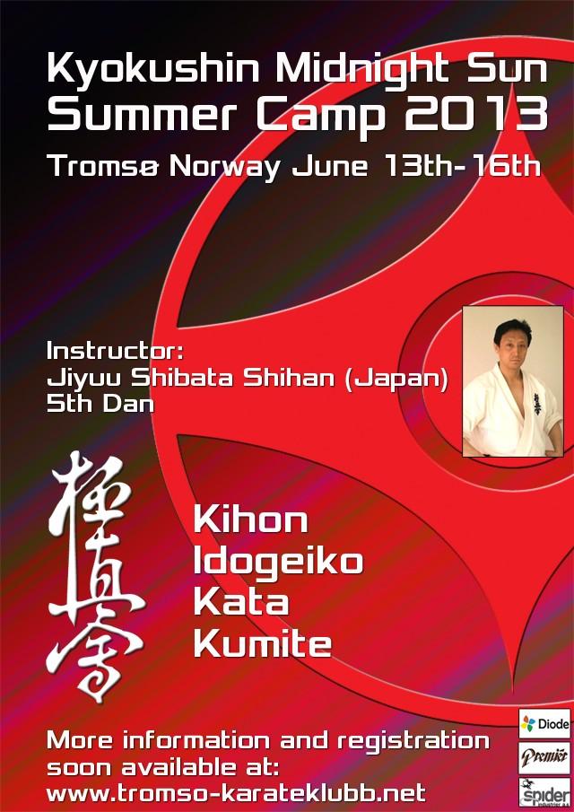 Summercamp Tromsø karate kyokushinkai